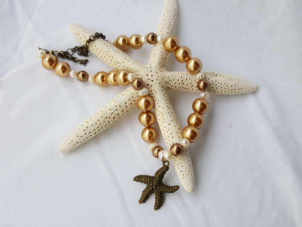 Beach Sand Pearl Necklace