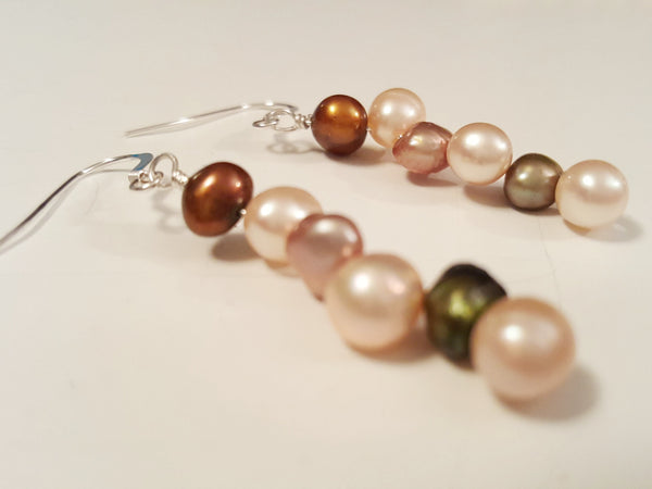 Warm and Soft Fresh Water Pearl Earrings