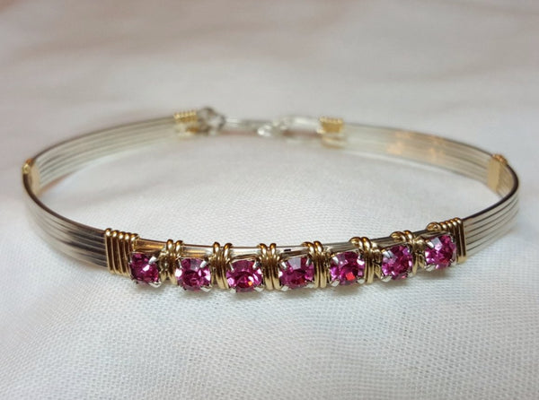 "Custom Swarovski ""Tiffany"" Bangle Bracelet"
