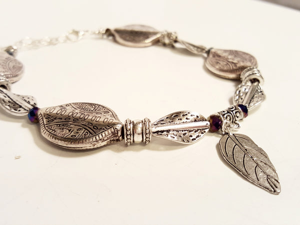 Silver Angel Wing or Leaf Boot Bling