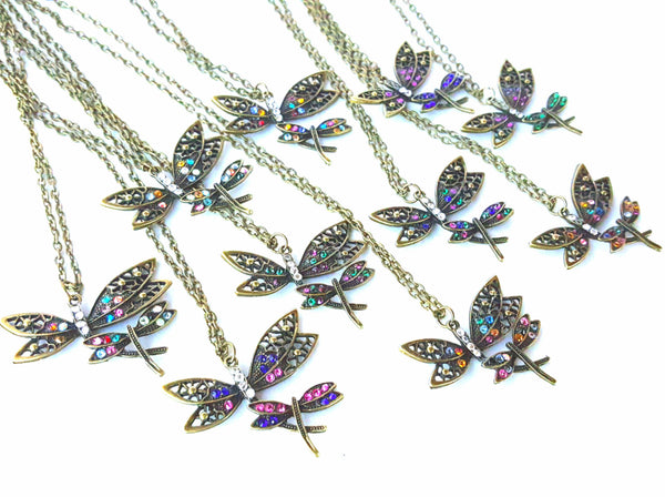 Dragonflies in Flight Necklace