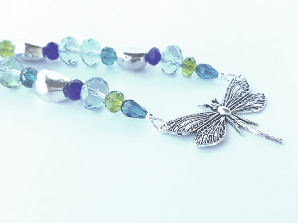 Summer Dragonfly Swarovski Necklace