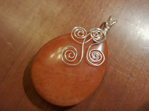 Just Peachy - Red Aventurine Pendant