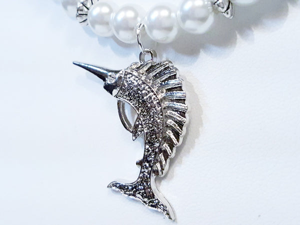 Marlin and Pearl Necklace