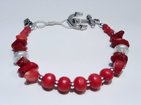 Catalina - Red Anchor Bracelet