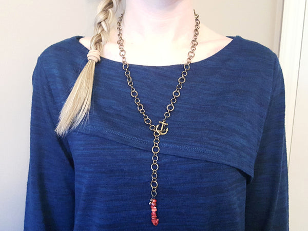 Starboard Anchor Necklace