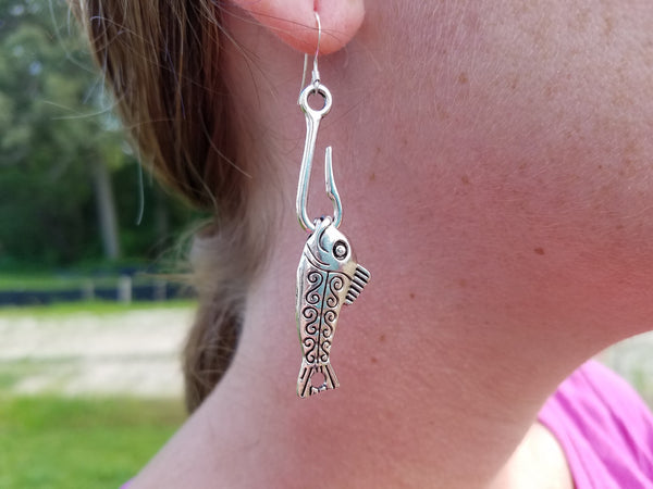Fish Hooked Earrings
