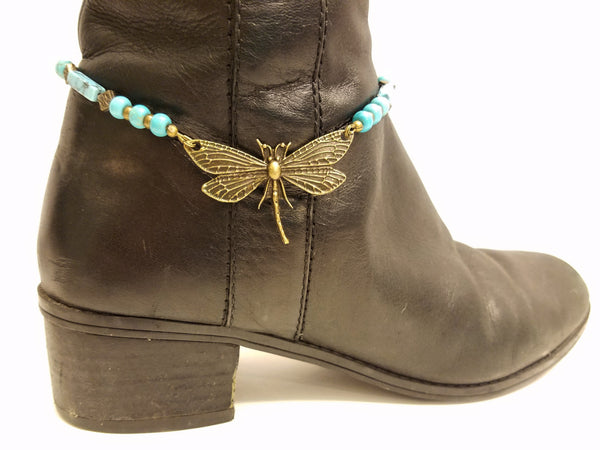 Dragonfly Blue Magnesite Boot Bling