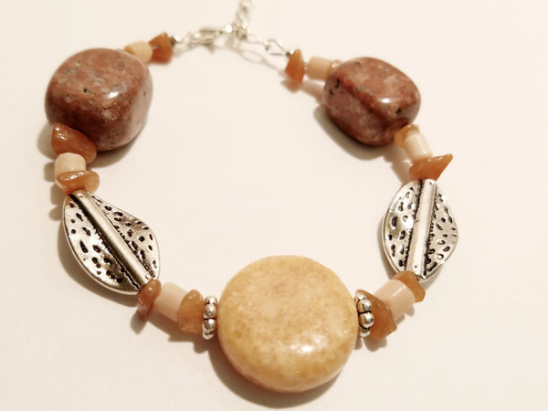 Peachy Red Stone Bracelet