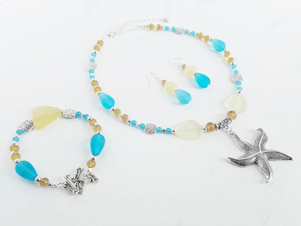Sand and Sea Starfish Necklace