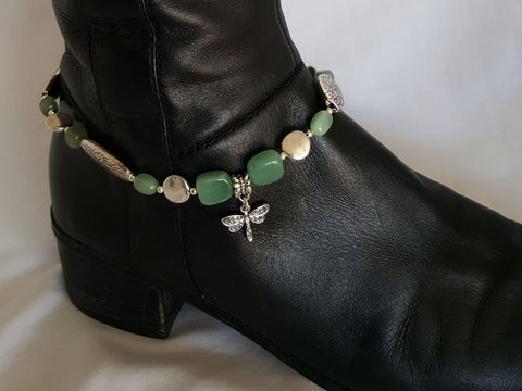 Green Dragonfly Boot Bling