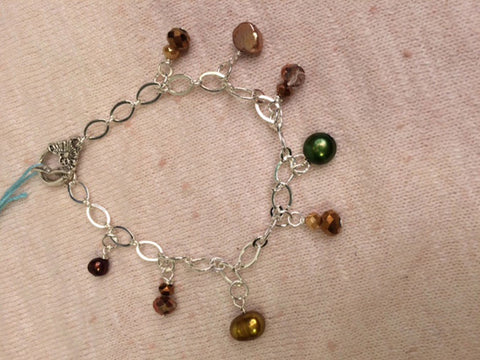 Dangle Fresh Water Pearl Bracelet