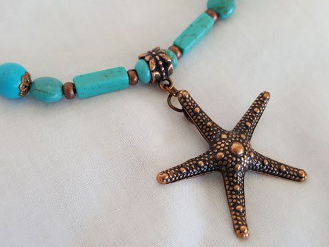 Starfish and Turquoise Boot Bling