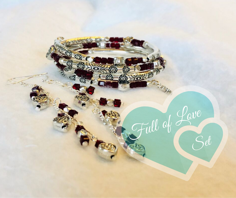 Full of Love Bracelet and Earrings Set
