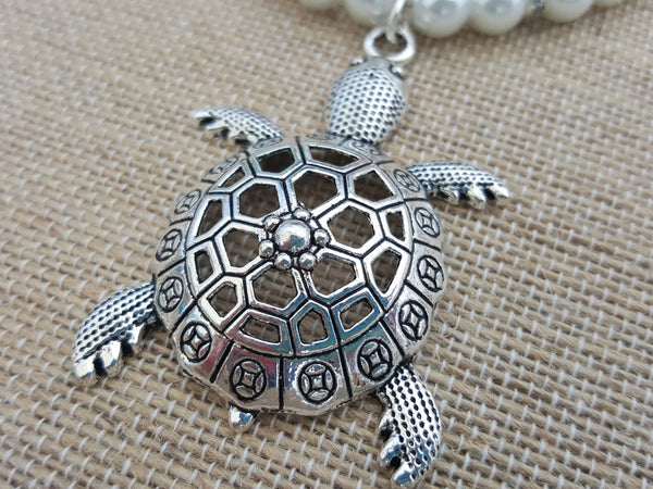 Turtle and Pearl Necklace