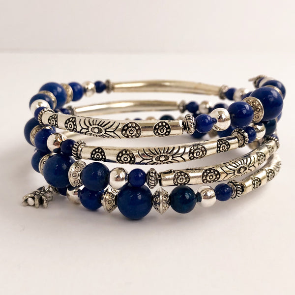Midnight Sky Wrap Bracelet and Earring Set