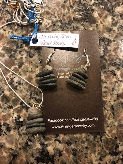 Cairn Beach Stones Sterling Necklace
