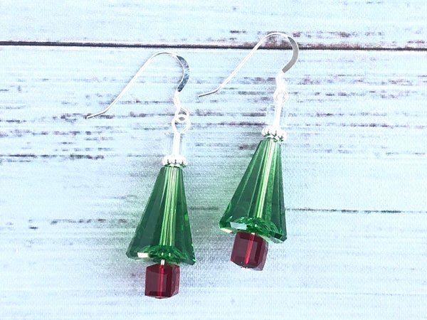 Christmas Tree Swarovski Earrings