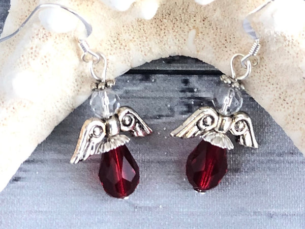 Red Angel Earrings