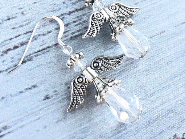Clear Angel Swarovski Earrings