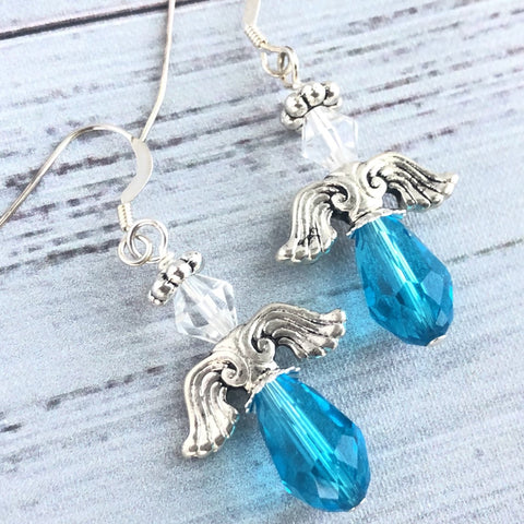 Turquoise Angel Swarovski Earrings