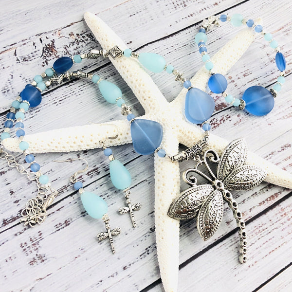 The Blues Dragonfly Necklace