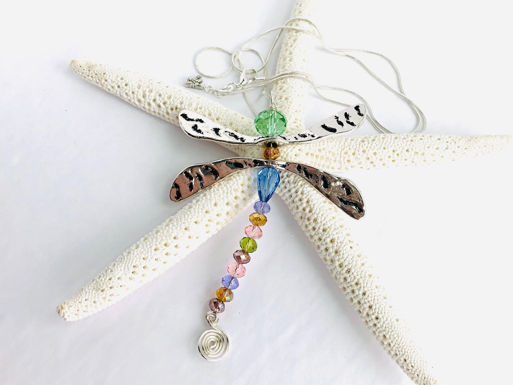 Just Wing It Dragonfly Necklace