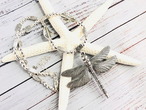 Sparkling Dragonfly Necklace
