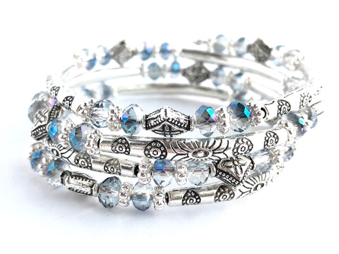 Glistening Waters Wrap Bracelet
