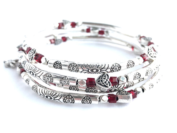 Ruby Love Wrap Bracelet
