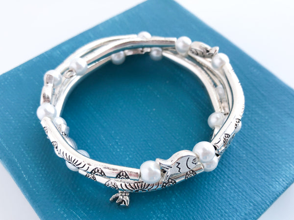Fanciful Fish Wrap Bracelet