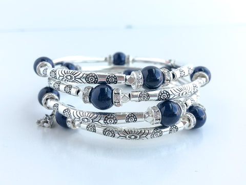 Lovely Blue Wrap Adjustable Bracelet
