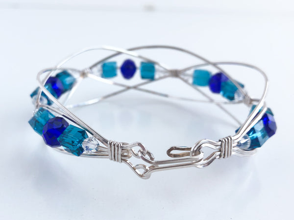 Chase the Blues Away Sterling Bracelet