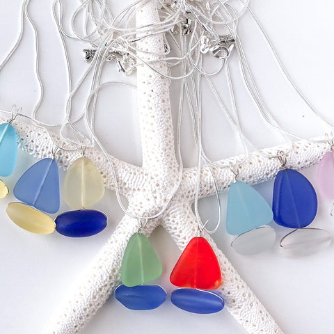 Sail Away Sea Glass Sailboat Necklace