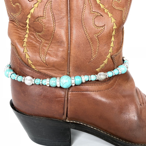 Blue Sparkly Boot Bling