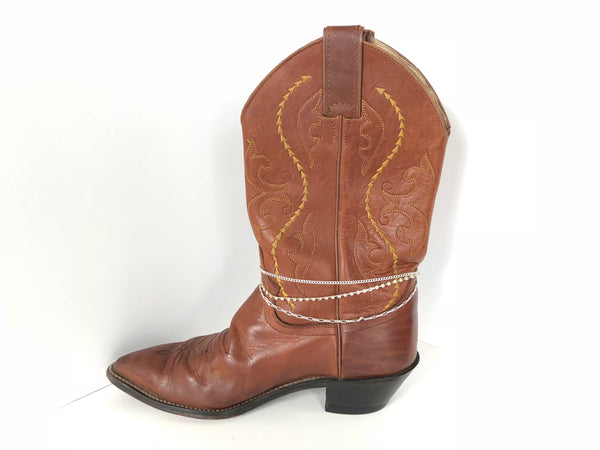 Triple Strand Silver Boot Bling