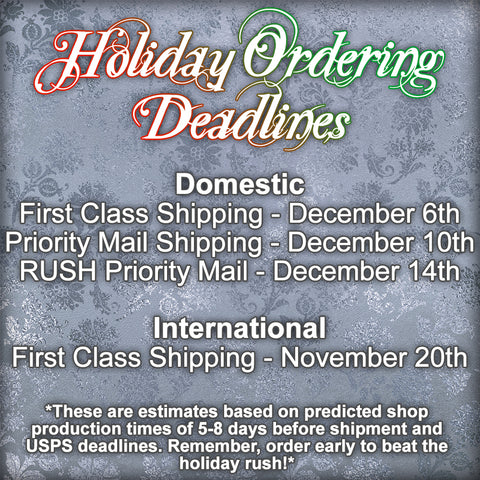 Holiday Ordering Deadlines picture