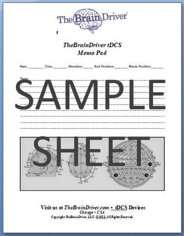 TDCS Session Journal Memo Pad