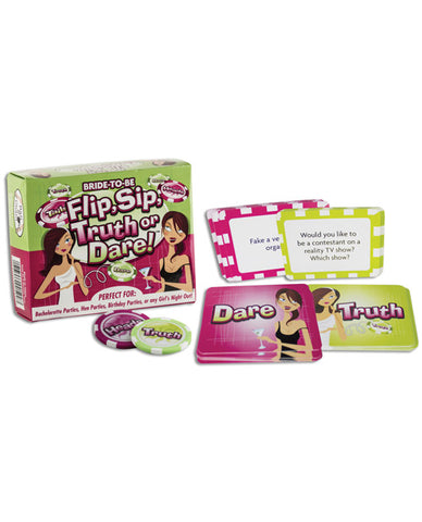 Bride To Be Flip, Sip Truth Or Dare Game