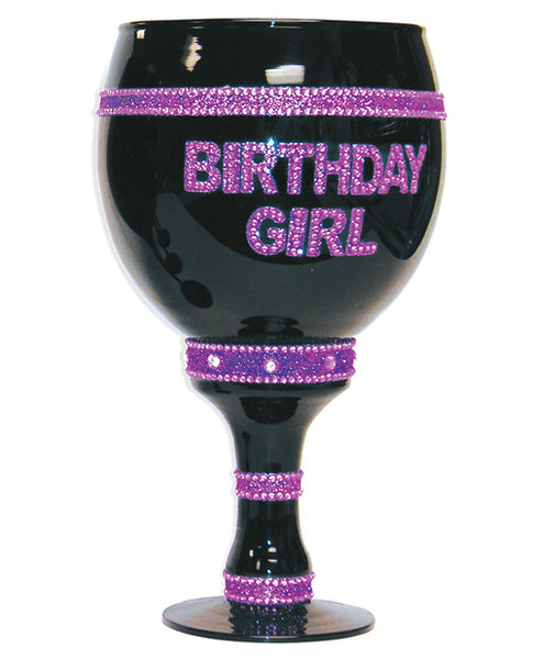 Birthday Girl Over Sized Goblet - Black