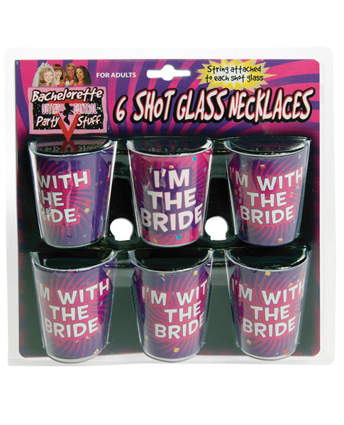 Bachelorette Shot Glass Necklaces - Asst. Pack Of 6