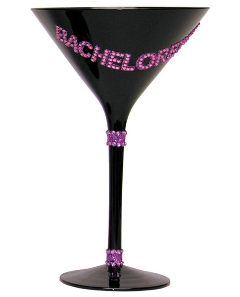 Bachelorette Martini Glass - Black