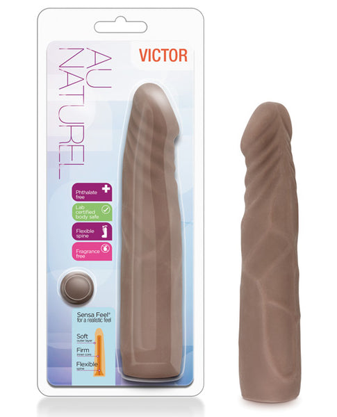 Blush Au Naturel Victor Dildo - Chocolate