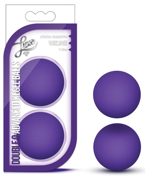 Blush Luxe Double O Kegel Balls - Purple