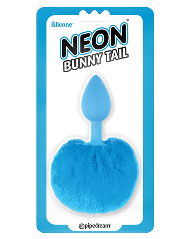 Neon Luv Touch Bunny Tail - Blue