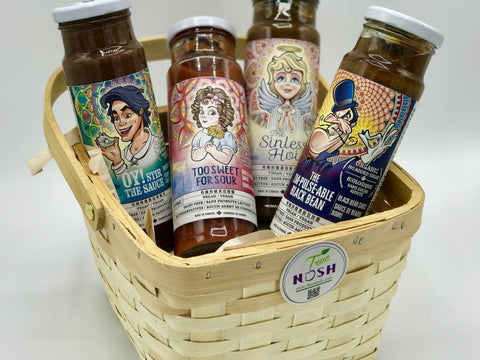 4 Asian Sauces in a basket