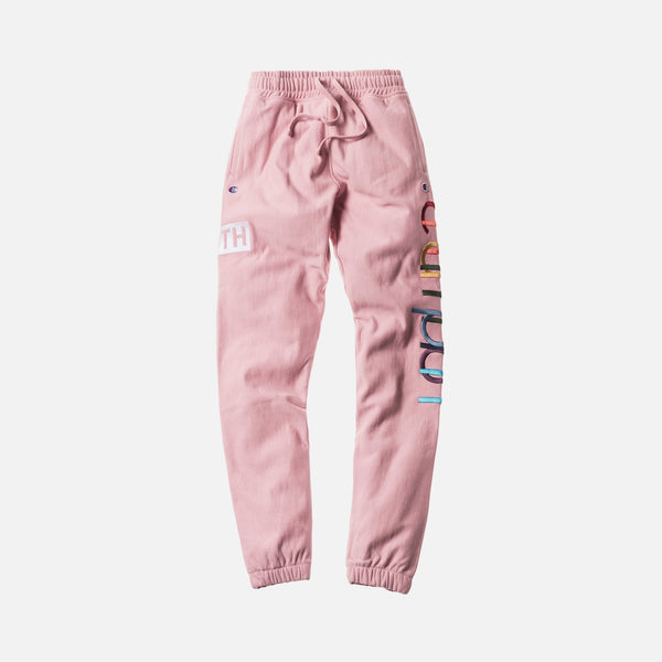 KITH X CHAMPION DOUBLE LOGO SWEATPANT PINK The Firehouse The Firehouse - The Firehouse DTX