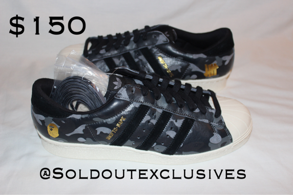 Bape X Undefeated X Adidas Superstar Sold Out Exclusives The Firehouse - The Firehouse DTX