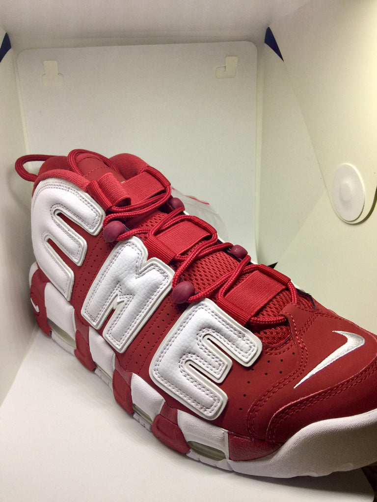 Supreme Nike Air More Uptempo Varsity Red-The Firehouse