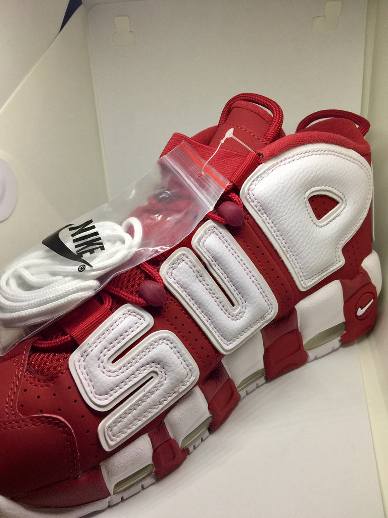 Supreme Nike Air More Uptempo Varsity Red Supreme The Firehouse - The Firehouse DTX